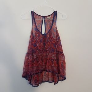 ☀️ Urban Outfitters paisley peplum top